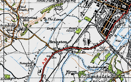 Old map of Branston in 1946