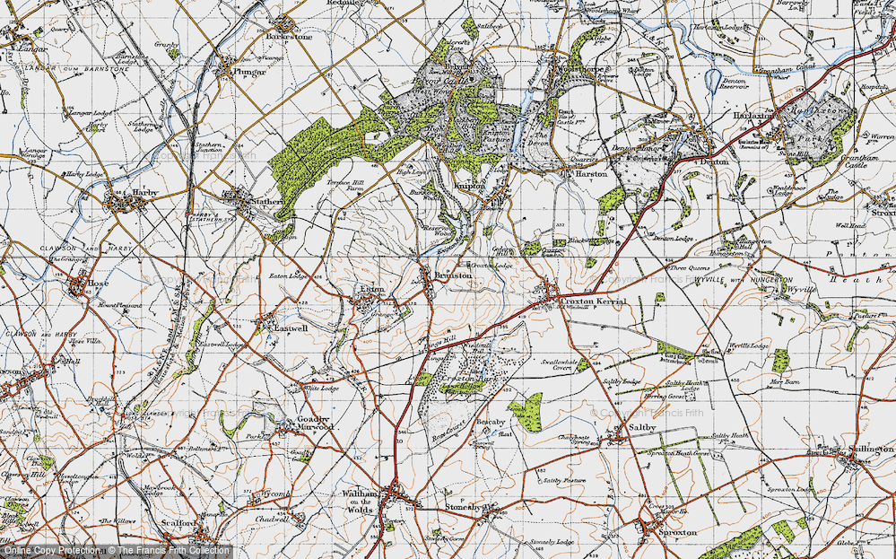 Old Map of Historic Map covering Lings Hill in 1946