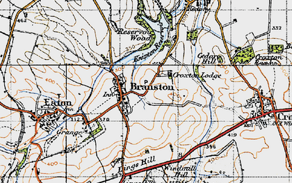 Old map of Lings Hill in 1946