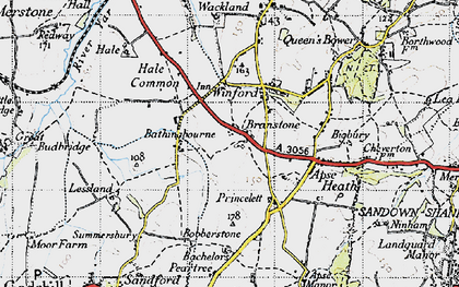 Old map of Branstone in 1945