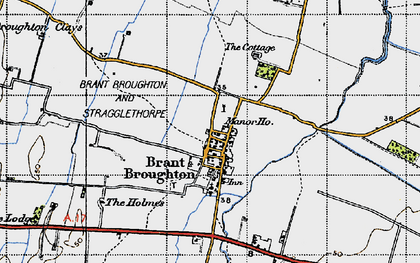 Old map of Brant Broughton in 1947