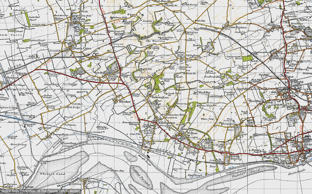 Old Map of Brantingham, 1947 in 1947