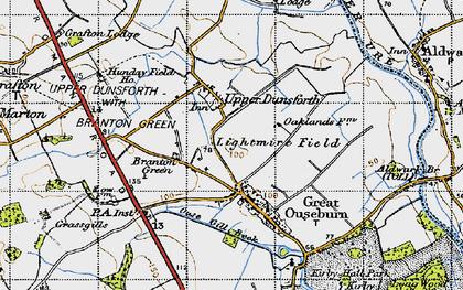 Old map of Lightmire Field in 1947