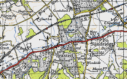 Old map of Brasted in 1946
