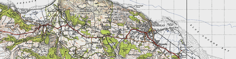 Old map of Bratton in 1946