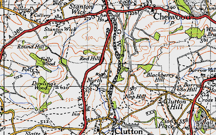 Old map of Breach in 1946