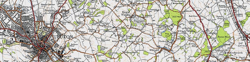 Old map of Breachwood Green in 1946