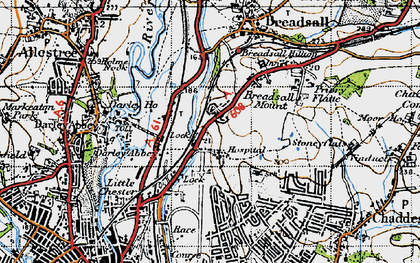 Old map of Breadsall Hilltop in 1946