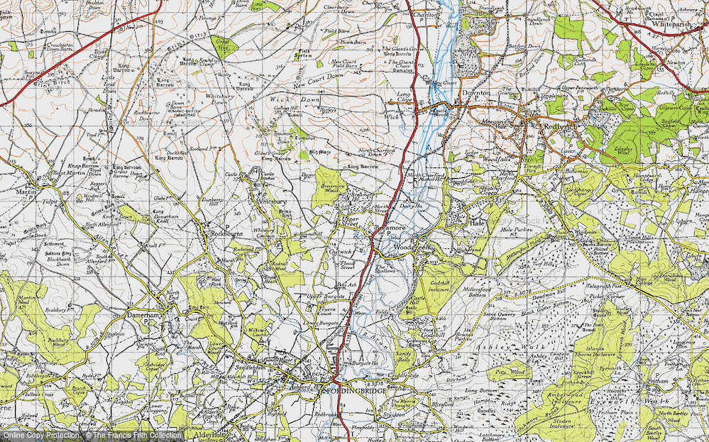 Old Map of Breamore, 1940 in 1940