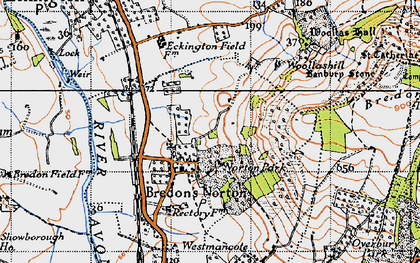 Old map of Woollas Hall in 1946