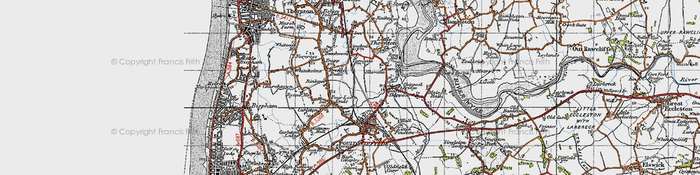 Old map of Breedy Butts in 1947