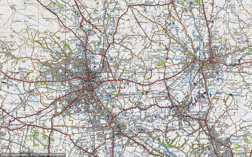 Old Map of Breightmet, 1947 in 1947