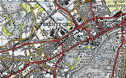 Old map of Brentford End in 1945