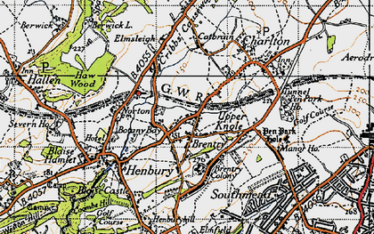 Old map of Brentry in 1946