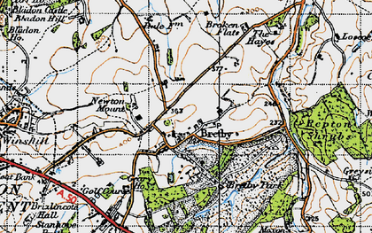 Old map of Bretby in 1946