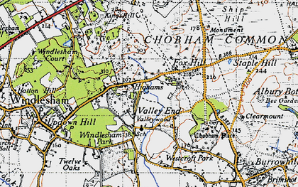 Old map of Westcroft Park in 1940