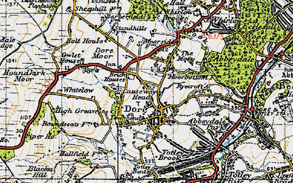 Old map of Limb Brook in 1947