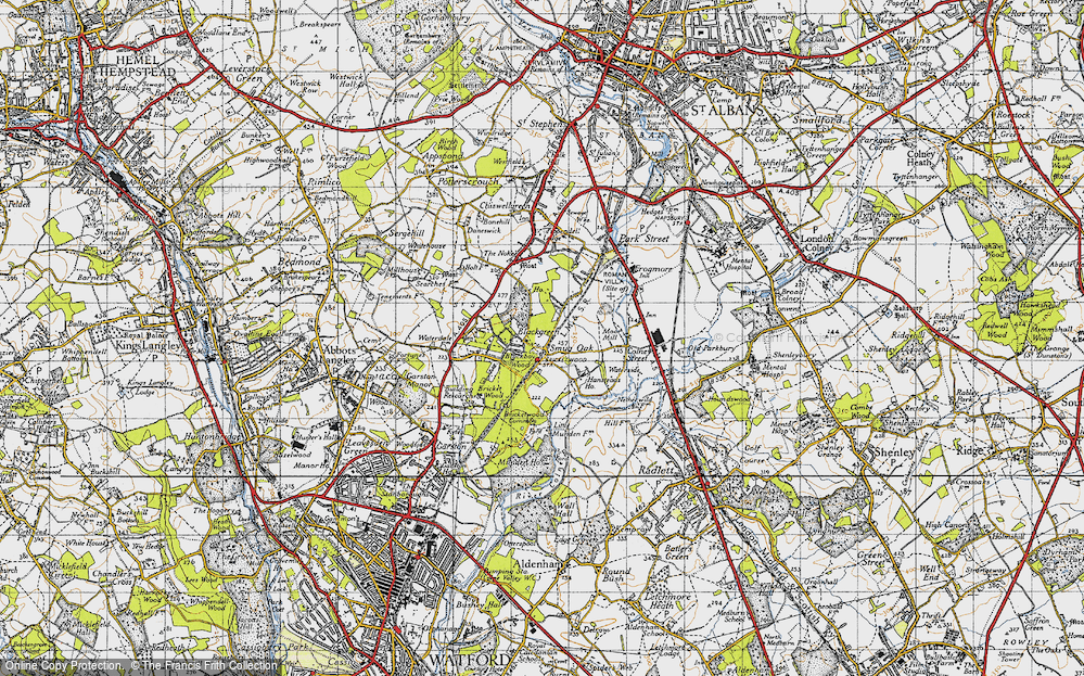 Old Map of Bricket Wood, 1946 in 1946