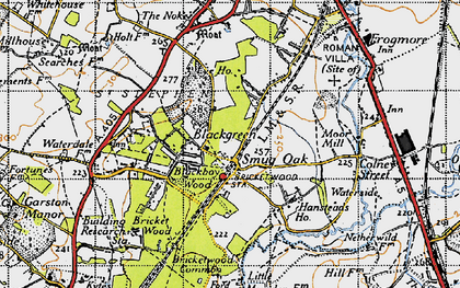 Old map of Bricket Wood in 1946