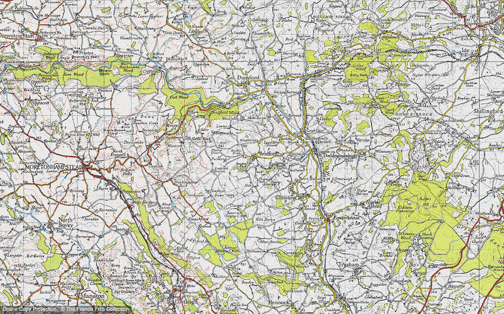 Old Map of Historic Map covering Laployd Barton in 1946