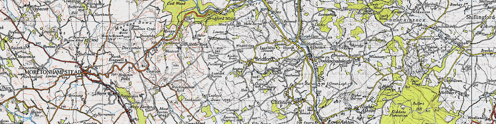 Old map of Windhill Gate in 1946