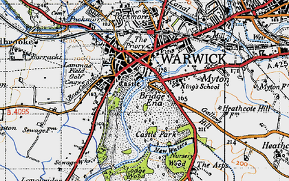 Old map of Barford Wood in 1947