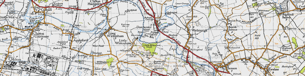 Old map of Bridge End in 1947
