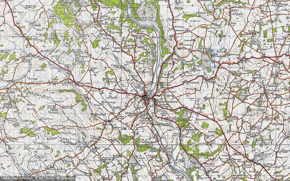 Old Map of Bridgnorth, 1946 in 1946