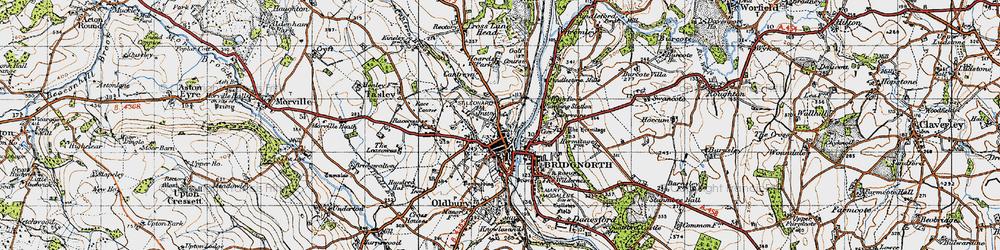 Old map of Bridgnorth in 1946