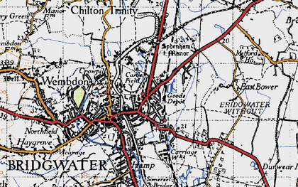 Old map of Bridgwater in 1946