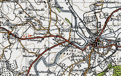 Old map of Wyelea in 1947