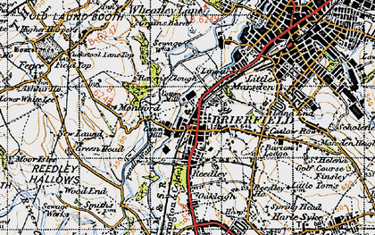 Old map of Brierfield in 1947
