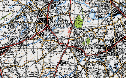 Old map of Brierley Hill in 1946