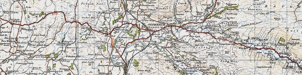 Old map of Abbot Holme in 1947