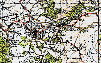 Old map of Latrigg in 1947
