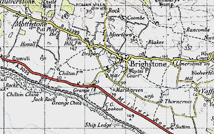 Old map of Brighstone in 1945
