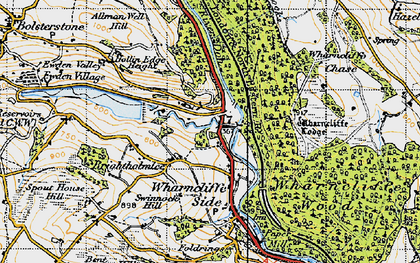 Old map of Wharncliffe Lodge in 1947