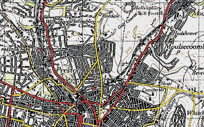 Old map of Brighton in 1940