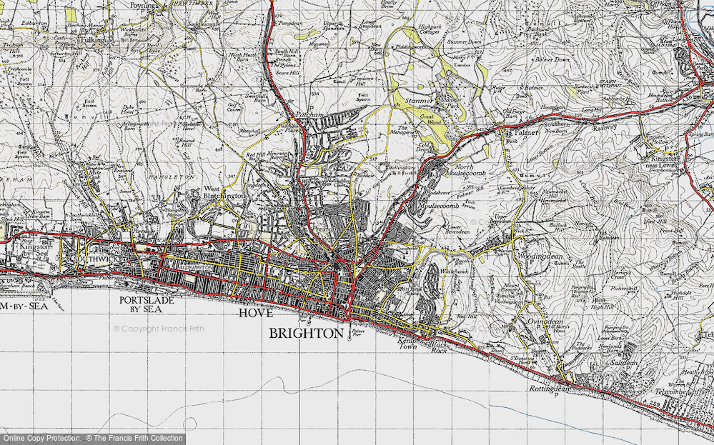 Map of Brighton 1940 Francis Frith