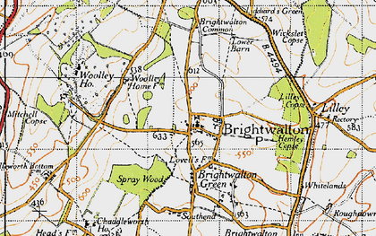 Old map of Brightwalton in 1947