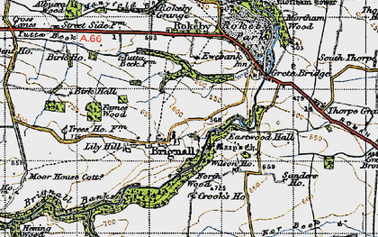 Old map of Lily Hill in 1947