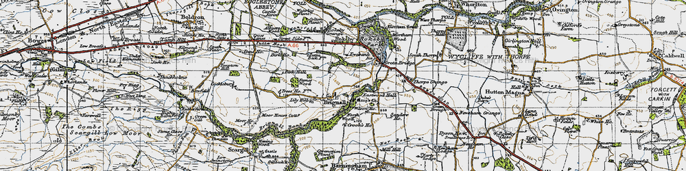 Old map of Brignall in 1947