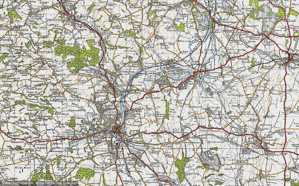 Old Map of Brimington, 1947 in 1947