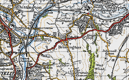 Old map of Brimington in 1947