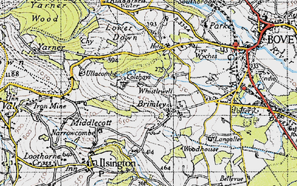 Old map of Langaller in 1946