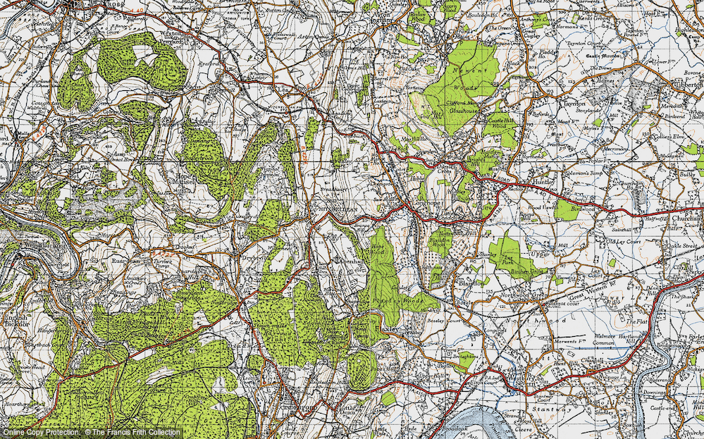 Old Map of Historic Map covering Abenhall in 1947