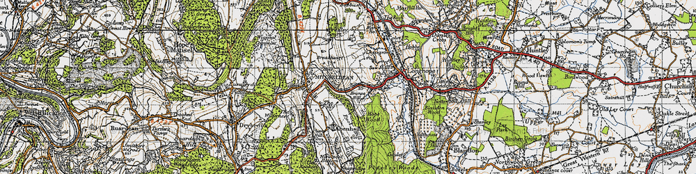 Old map of Abenhall in 1947