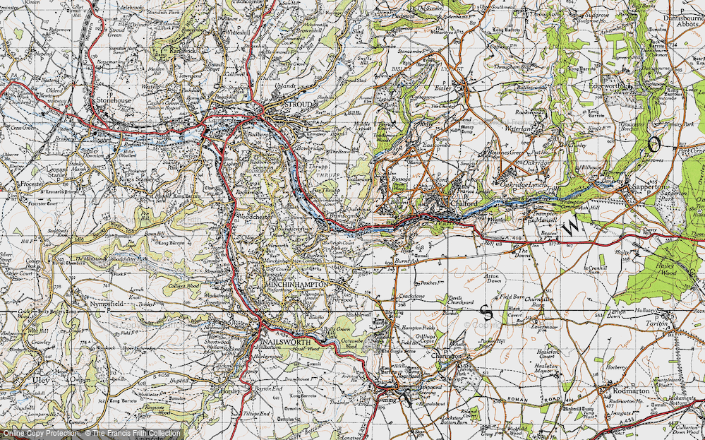 Old Map of Brimscombe, 1946 in 1946