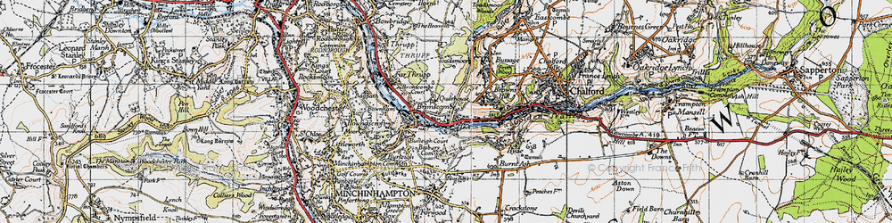 Old map of Brimscombe in 1946
