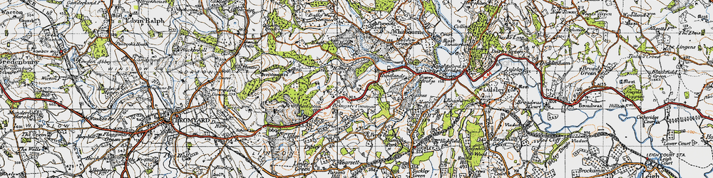 Old map of Whitbourne Hall in 1947